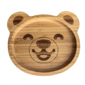 Baby Bamboo Plate for Weaning with Suction